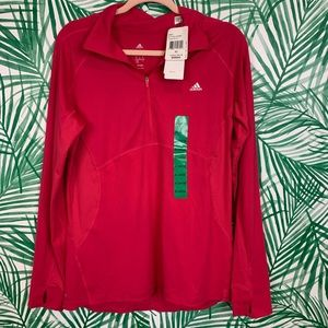 Adidas pink long sleeve climalite pullover XL NWT